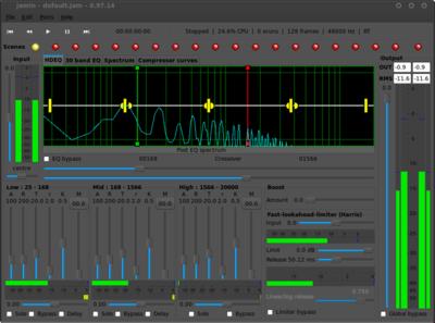 図8 JAMinを使うと倍音成分の可視化が可能となり,ローパスフィルターの効果などが一目瞭然となる