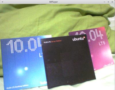図4 プレビューウィンドウはmplayerを利用している。10.04のディスクが映っているのは3色揃っていたからであり,他意はない