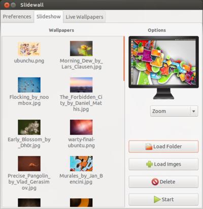 図7 Load FolderやLoad Imageで画像を追加しておくと順番に壁紙として使われる