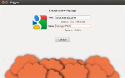 図6 Fogアプリの作成画面