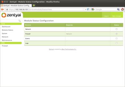 図4 モジュールの管理画面
