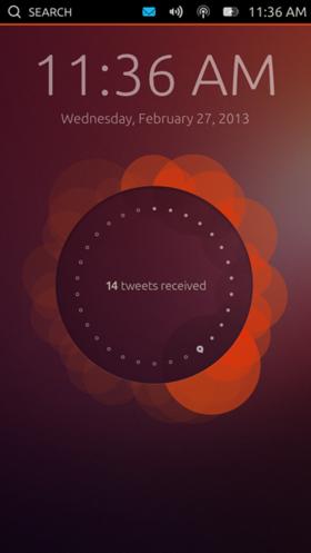 図1 Ubuntu Touchの「ウェルカムスクリーン」