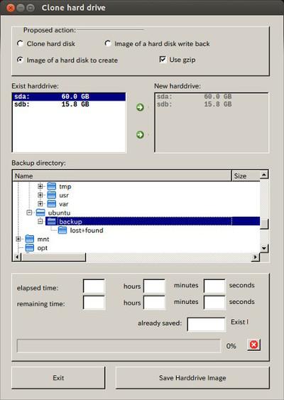 図3 [Proposed action]と[Backup Directory]を変更します