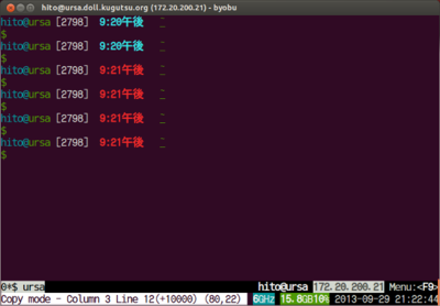 図1 Screenのコピーモード表示