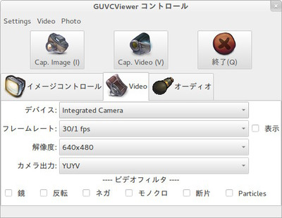 図4 Videoタブ