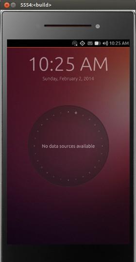 図1 Ubuntu Touchのウェルカムスクリーン