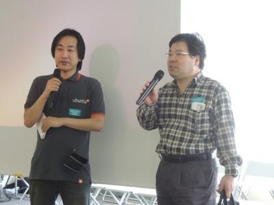 写真 左:司会の長南氏。右:寺薗先生