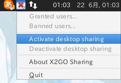図4 [Active desktop sharing]をクリックする