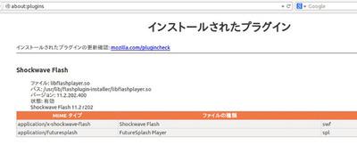 図2 FirefoxにインストールされたFlash Player