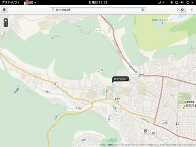 図5 追加された地図アプリケーション