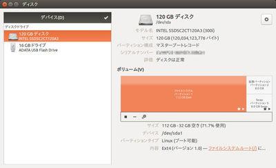 図3 ディスク管理の起動直後の画面