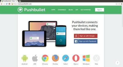 図1 Pushbullet