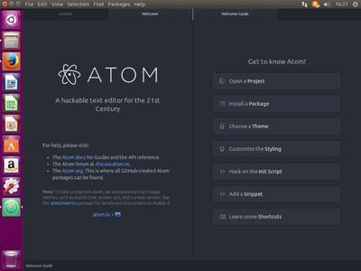 図1 Atomの起動直後