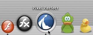 アプリケーション毎にアイコンが表示される