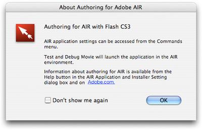 ファイルの新規作成時に表示される概要ダイアログ