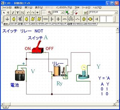 本書収録サンプル:入門者には3Dビューで親しみやすく基本回路が実験できる