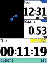 移動した距離や時間などを計測してくれる