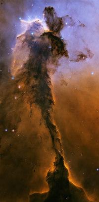 """ハッブル宇宙望遠鏡がはじめて観測した「わし星雲(M16)」の""""巨大な柱"""""""