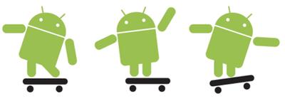 Google Android のマスコット。Goodies君。ずんぐりしたロボットです。