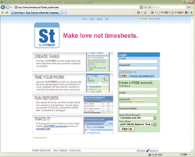 オンラインタスク管理サービス:SlimTimer