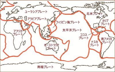 図2 地震の震央とプレート境界は一致する