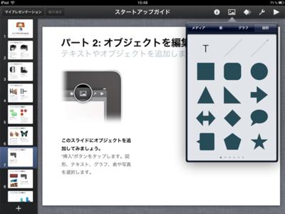 Macで有名なプレゼンテーションアプリ「Keynote」のiPad版を使えば,プレゼン資料もラクラク作成