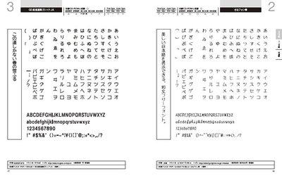 収録フォントは表示できる漢字の種類やサンプル等を掲載