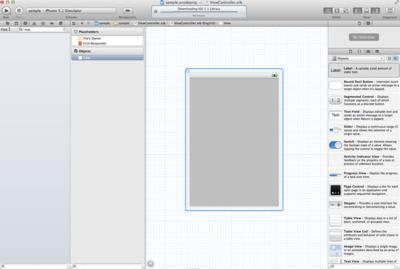 ドラッグ&ドロップで結構なモノが作れそうに思えてしまうStoryboardですが,実はこれだけでは見た目しか作ることができないのです