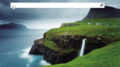 検索するためのアプリ(「Bing」)の画面