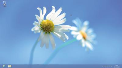 Windows 8のデスクトップ