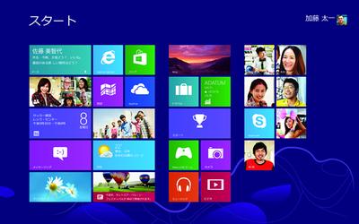 Windows 8のスタート画面