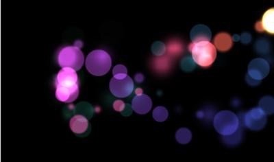 マウスを動かすと,その軌跡にそって円のグラフィックが次々と表示される。CreateJSを構成するライブラリの1つであるEaselJSで,マウス座標を管理することによって実現している