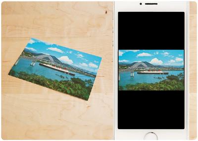 撮影した写真は自動補正され,「写真」アプリで見ることができる