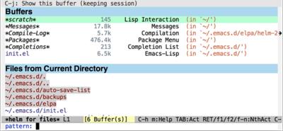 図1 helm-for-filesの実行画面