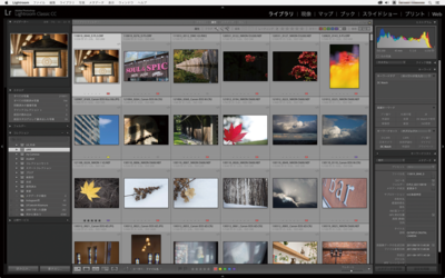 Adobe Lightroom Classic CCの画面