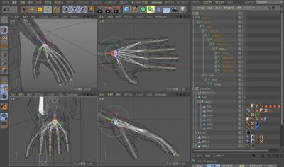 Cinema 4Dによる制作の過程(リギング)