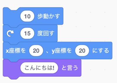 図1 Scratchのコード