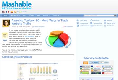 図3 サイト解析ツールがいろいろ紹介されている