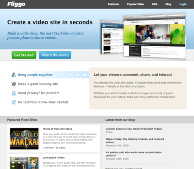 図4 すぐに自分専用動画サイトが作れます