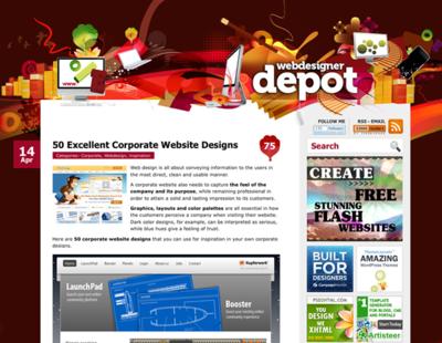 図5 上品なデザインのサイトが多いです