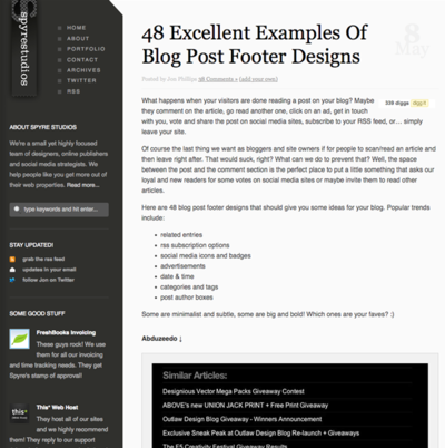 図2 ブログのフッターではなく,ブログ記事のフッター集