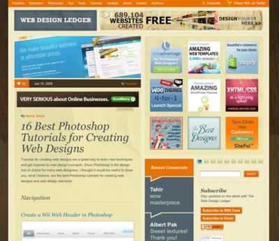 図3 Webページ全体をデザインするチュートリアルが豊富です