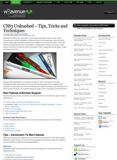 図5 CSS3関連の膨大なリンク集です