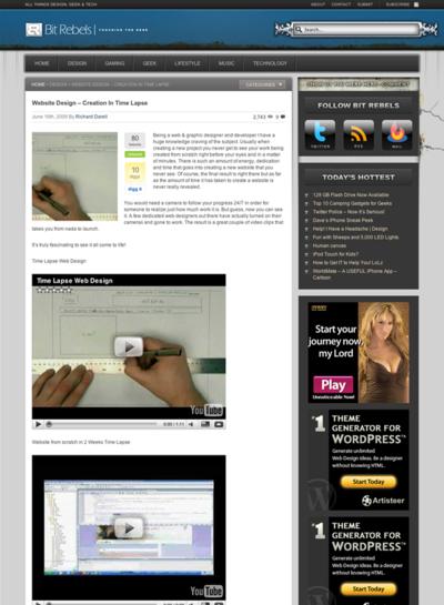 図1 Webサイトの制作過程のムービーをYouTubeから紹介