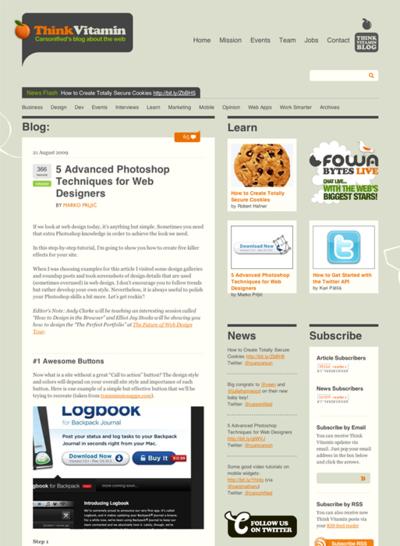 図1 WebデザイナーのためのPhotoshopテクニック集