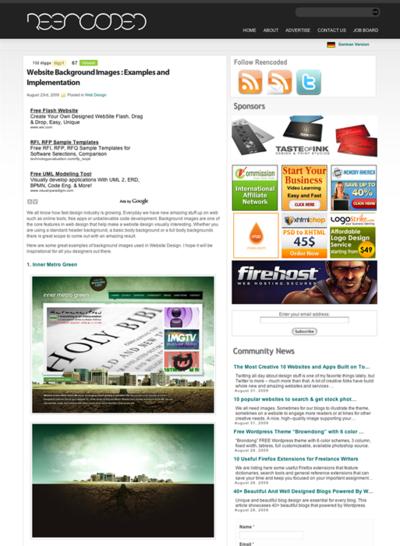 図5 Webサイトで使われている背景画像のギャラリー