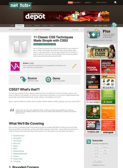 図1 CSS3と従来の方法とのCSSテクニックの比較