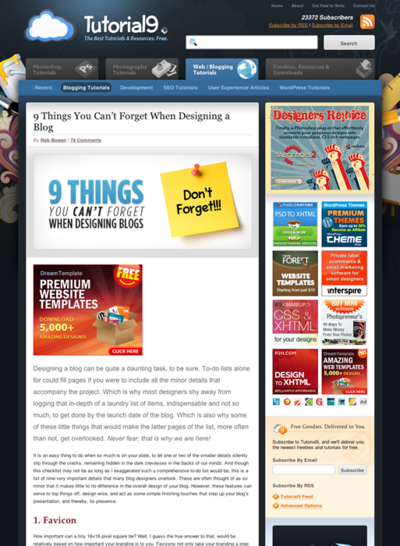 図4 ブログデザインで忘れてはならない9つのこと