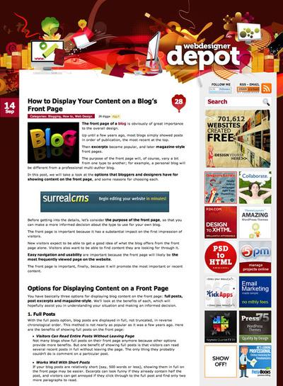 図1 ブログトップページでの記事の見せ方に関する記事