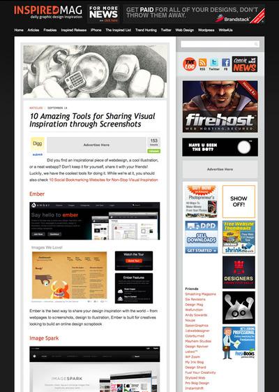 図3 スクリーンショットを共有する10種類のツール